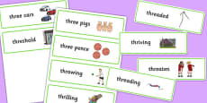 Two Syllable THR Word Cards