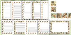 The Tale of Squirrel Nutkin Page Borders (Beatrix Potter)
