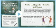 1 Week Myths and Legends Topic Morning Activities LKS2