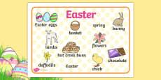 Easter Word Mat
