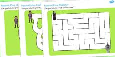 Rapunzel Differentiated Maze Activity Sheet Pack