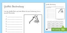 Arbeitsblatt für das Unterrichtsthema Der Grüffelo Beschreibung