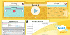PlanIt Y4 Fractions Round Decimals Lesson Pack Round It
