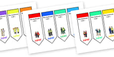 People Who Help Us Editable Bookmarks