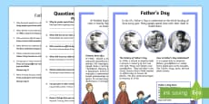 * NEW * KS1 Father's Day Differentiated Reading Comprehension Activity English/Polish