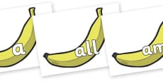 Foundation Stage 2 Keywords on Bananas