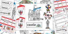Castles and Knights Lapbook Creation Pack