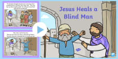 Jesus Heals a Blind Man Bible PowerPoint Story