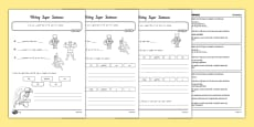 Writing Super Sentences Differentiated Activity Sheets New Zealand