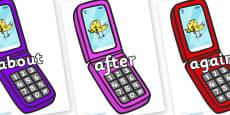 KS1 Keywords on Mobile Phone