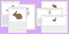 Bandit Rat Themed Writing Frames