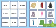 * NEW * Clothing Snap Card Game German