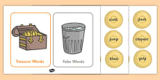 Phase 4 Buried Treasure Phonics Game
