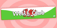 Welsh Club Display Banner
