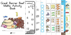 Australia - Great Barrier Reef Maths Activity Booklet