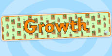 Growth Display Banner