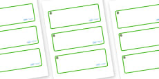 Willow Themed Editable Drawer-Peg-Name Labels (Blank)
