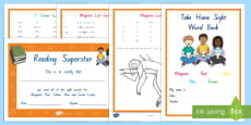 Reading Sight Words First Year of School Home Learning Activity Booklet