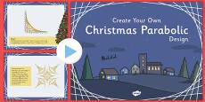 Christmas Parabolic Designs PowerPoint