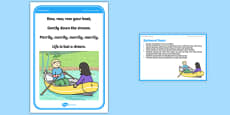 Foundation PE (Reception) Backward Boats Cool-Down Activity Card