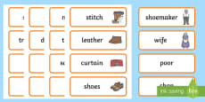 The Elves and the Shoemaker Word Cards