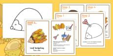 Leaf Hedgehog Craft Instructions English/Polish