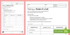 Making a Model of a Cell Homework Activity Sheet