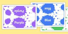 Editable Class Group Table Signs (Colour)
