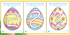 Easter Egg Pencil Control Path Activity Sheet Pack