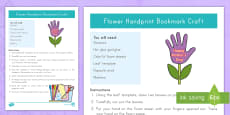 Mother's Day Handprint Bookmark Craft Instructions