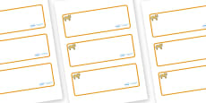 Lion Cub Themed Editable Drawer-Peg-Name Labels (Blank)