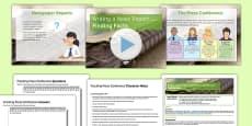 Writing a News Report Lesson One Finding Facts Lesson Pack