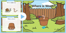 * NEW * Worm Prepositions PowerPoint