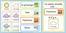 Weather and Season Day Calendar French