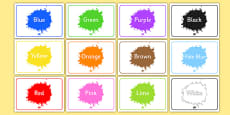 Editable Class Group Signs (Colour)