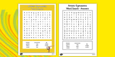 The Olympics Artistic Gymnastics Word Search