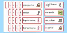 Cartes de vocabulaire : Le Petit Chaperon rouge