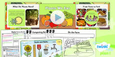 PlanIt - Science Year 2 - Plants Lesson 5: Plants We Eat Lesson Pack
