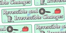 Reversible And Irreversible Changes Display Banner