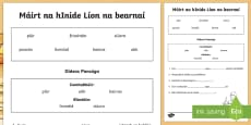 * NEW * Pancake Tuesday Fill in the Blanks Activity Sheet Gaeilge