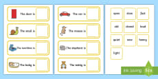 Fill In The Adjective Basic Concept Sentences Matching Activity (Set Two)