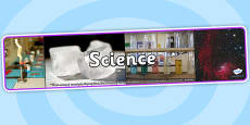 Science Photo Display Banner