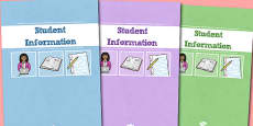 A4 Student Information Divider Covers