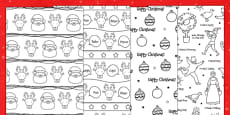 Christmas Printable Colour-in Wrapping Paper
