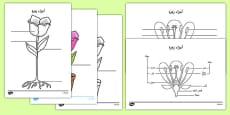 Parts of a Plant and Flower Labelling Activity Sheet Arabic