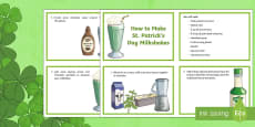 * NEW * How to Make a St. Patrick's Day Milkshake Flashcards