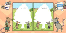 The Town Mouse and the Country Mouse Editable Note
