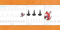 Pencil Control Sheets to Support Teaching on Room on the Broom