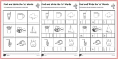 Find and Write the zz Words Differentiated Activity Sheet Pack