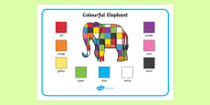 Elmer Colour Word Mat